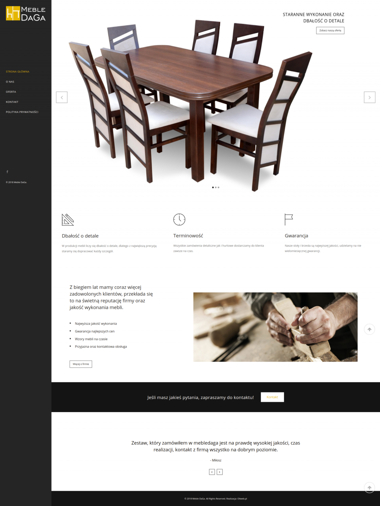 Mockup strona internetowa